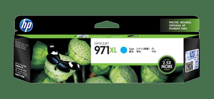 惠普 970XL 高收益青色原装耗材