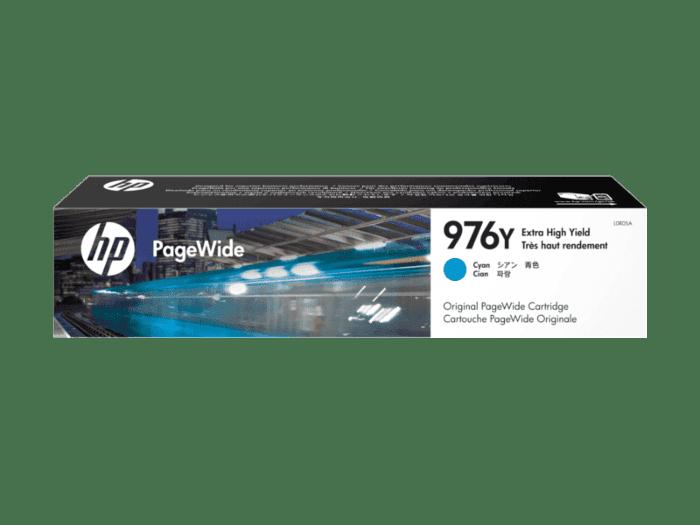 HP 976Y 超高印量青色原装 PageWide 墨盒