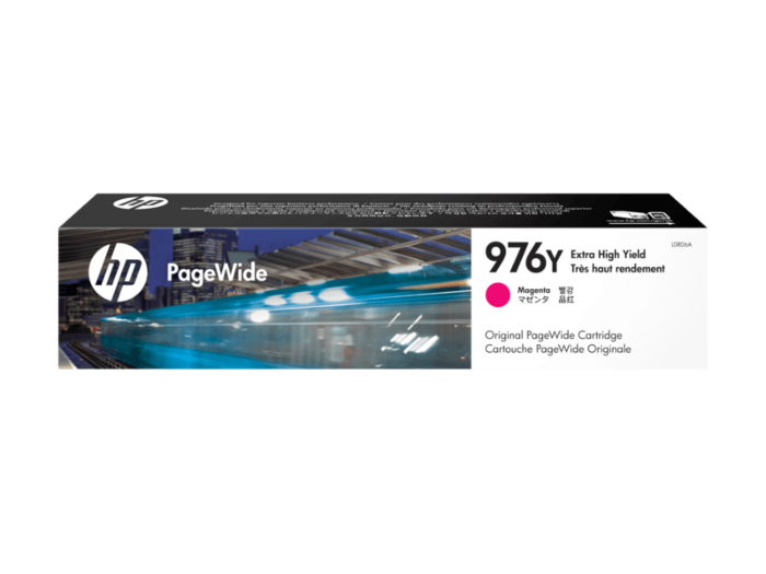 HP 976Y 超高印量品红色原装 PageWide 墨盒