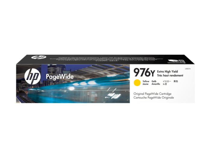 HP 976Y 超高印量黄色原装 PageWide 墨盒