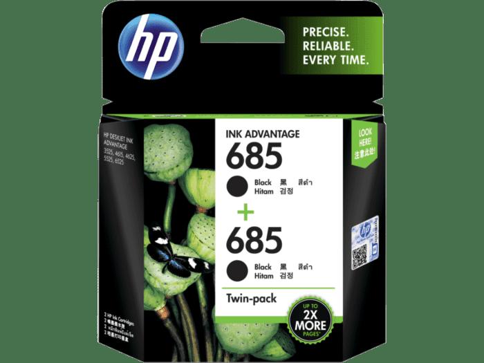 HP 685 号 Ink Advantage 黑色原装墨盒(2 件套)