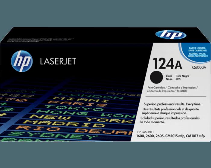 HP 124A 黑色原装 LaserJet 硒鼓