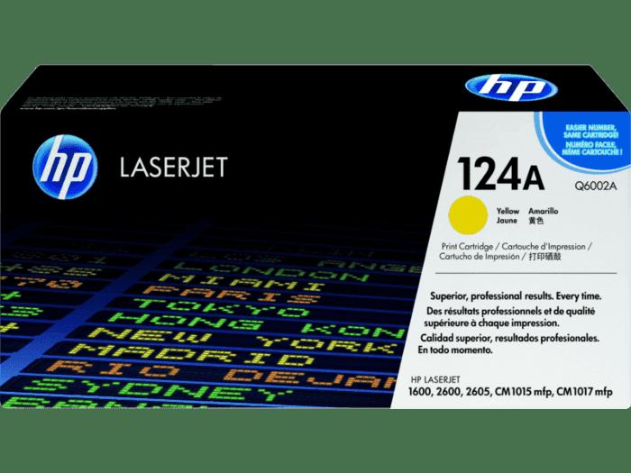 HP 124A 黄色原装 LaserJet 硒鼓