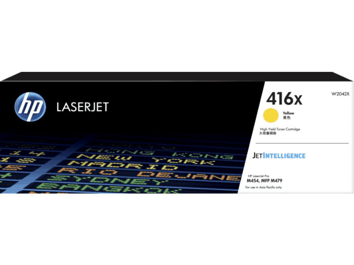 HP 416X 高印量黄色原装硒鼓(适用HP Color LaserJet Pro M454/ MFP M479系列)