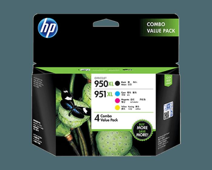 HP 950XL Black/951XL 青色/品红色/黄色 4 件套原装墨盒