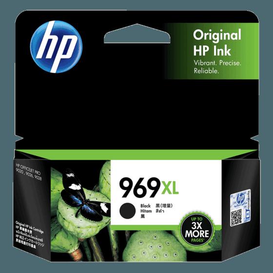 HP 969XL 高印量黑色原装墨盒(适用于HP OfficeJet Pro 9020)