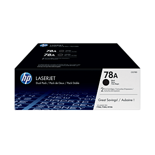 HP 78A 黑色原装 LaserJet 硒鼓(每包 2 个)