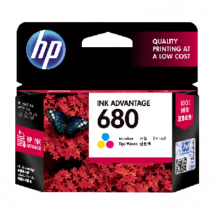 HP 680 号 Ink Advantage 三色原装墨盒
