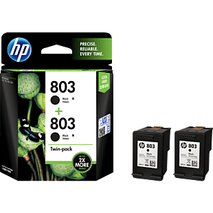 HP 803 黑色原装墨盒(两件装)
