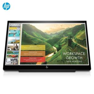 惠普(HP)EliteDisplay S14 14英寸IPS 全高清窄边框 便携式显示屏 Type-C接口显示器(低蓝光)